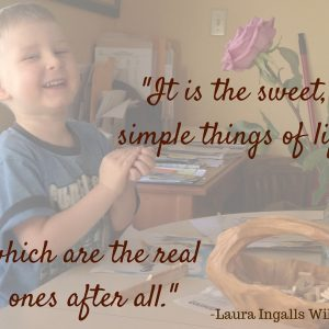 -It is the sweet, simple things-